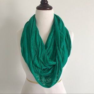 Green Lightweight Infinity Scarf